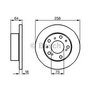 BOSCH 0 986 479 B24 Тормозной диск Фиат Таленто