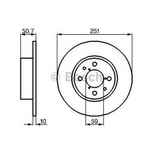 BOSCH 0 986 479 B26 Тормозной диск Лансия