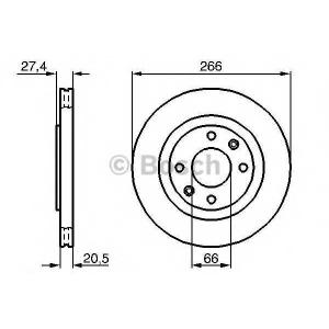 BOSCH 0 986 479 B27 Тормозной диск Ситроен Зх