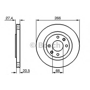 BOSCH 0 986 479 B27 Тормозной диск Ситроен Ксара Пикасо