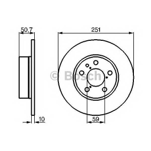 BOSCH 0 986 479 B31 Тормозной диск Лансия