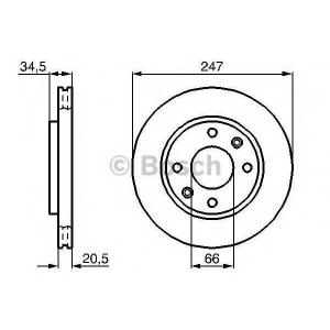 BOSCH 0 986 479 B32 Тормозной диск Ситроен Зх