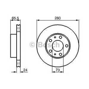 BOSCH 0 986 479 B34 Тормозной диск Ситроен Джампер