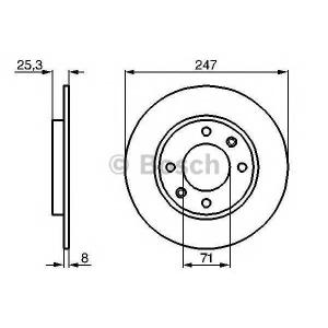 BOSCH 0 986 479 B35 Тормозной диск Ситроен Зх