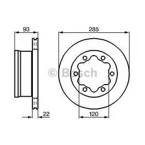 BOSCH 0 986 479 B38 Тормозной диск Мерседес Спринтер 4Т
