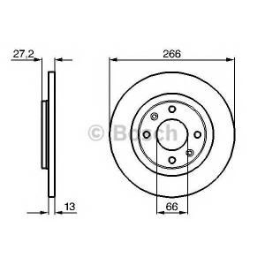 BOSCH 0 986 479 B51 Тормозной диск Ситроен С Элизи