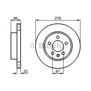 BOSCH 0 986 479 B53 Тормозной диск Мерседес Вито