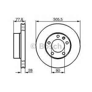 BOSCH 0 986 479 B59 Тормозной диск Опель Мовано