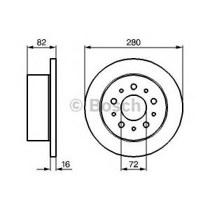BOSCH 0 986 479 B63 Тормозной диск Ситроен Джампер