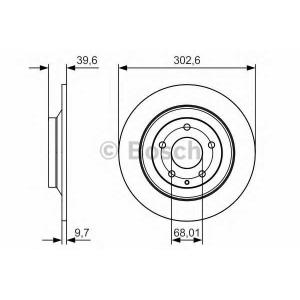 BOSCH 0 986 479 C28 Тормозной диск Мазда Ц-Икс 5