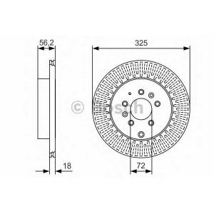 BOSCH 0 986 479 C30 Тормозной диск Мазда Ц-Икс 9