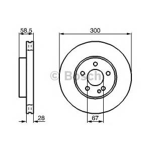 BOSCH 0 986 479 C50 Тормозной диск Мерседес Виано