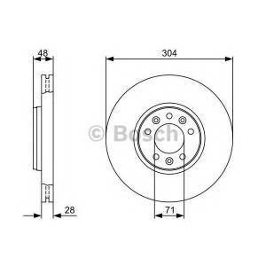 BOSCH 0 986 479 C53 Тормозной диск Фиат Скудо