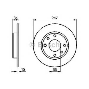 BOSCH 0 986 479 C54 Тормозной диск Ситроен С15