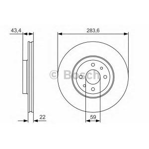 BOSCH 0986479R17 Гальмівний диск PR2 PEUGEOT Bipper ''F