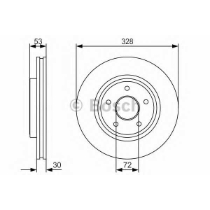 BOSCH 0 986 479 R48 Тормозной диск Джип Коммандер
