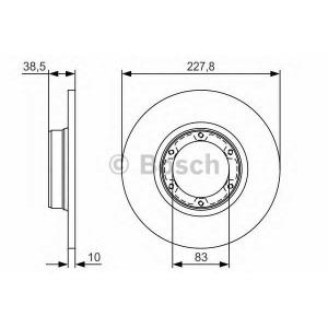 BOSCH 0 986 479 R65 Тормозной диск Дача 1310