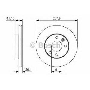 BOSCH 0 986 479 R66 Тормозной диск Рено 19