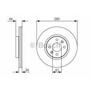 BOSCH 0 986 479 R67 Тормозной диск Рено Меган