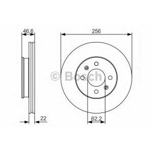 BOSCH 0986479R77 Тормозной диск передний KIA Rio, HYUNDAI Accent 05-