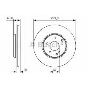 BOSCH 0 986 479 R79 Тормозной диск