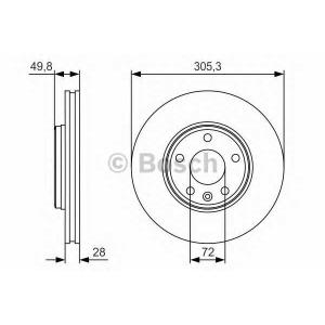 BOSCH 0 986 479 R93 Тормозной диск