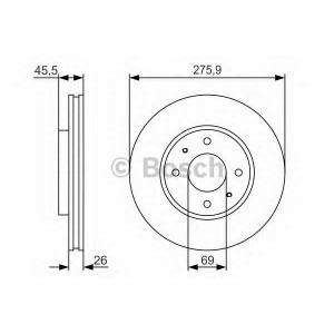 BOSCH 0986479R94 Тормозной диск