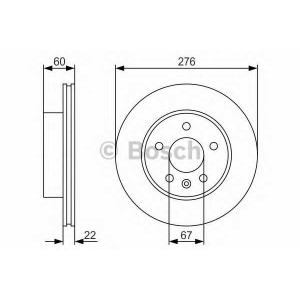 BOSCH 0 986 479 R95 Тормозной диск Мерседес Вито
