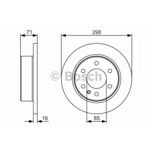 BOSCH 0 986 479 S05 Тормозной диск