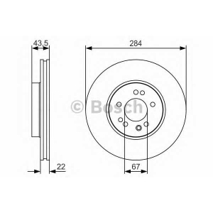 BOSCH 0 986 479 S15 Тормозной диск Мерседес 190