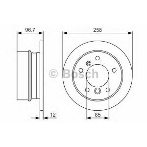 BOSCH 0 986 479 S17 Тормозной диск Мерседес Спринтер 2Т