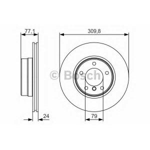 BOSCH 0 986 479 S29 Тормозной диск