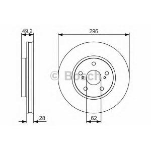 BOSCH 0986479S40 Тормозной диск