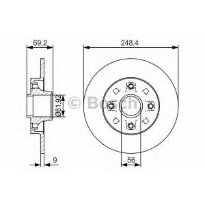 BOSCH 0 986 479 S43 Тормозной диск Ситроен С3