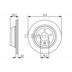 BOSCH 0986479S54 Гальмівний диск VW Multivan/Touareg 314mm ''R \03>> PR2