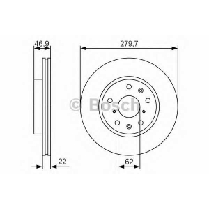 BOSCH 0 986 479 S58 Тормозной диск Фиат Седики