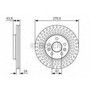 BOSCH 0 986 479 S66 Тормозной диск Мерседес