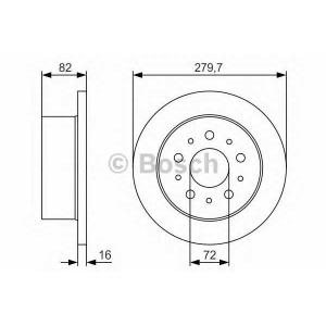 BOSCH 0 986 479 S73 Тормозной диск Ситроен Джампер