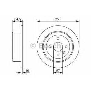 BOSCH 0 986 479 S75 Тормозной диск Дэу Леганза