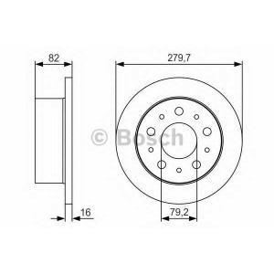 BOSCH 0 986 479 S86 Тормозной диск Ситроен Джампер