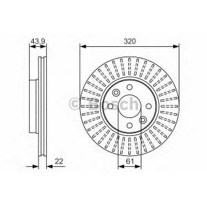 BOSCH 0 986 479 S90 Тормозной диск Дача Лоджи