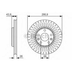 BOSCH 0 986 479 S93 Тормозной диск Рено Латитуде