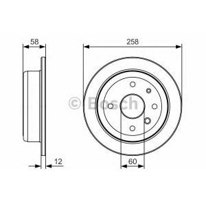 BOSCH 0986479T52 Тормозной диск