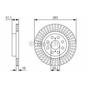 BOSCH 0 986 479 T57 Тормозной диск