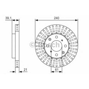 BOSCH 0986479U15 Тормозной диск