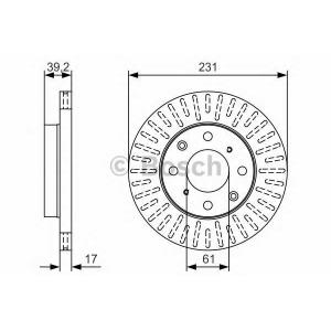 BOSCH 0986479U49 Тормозной диск