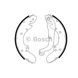 BOSCH 0986487128 Комплект тормозных колодок