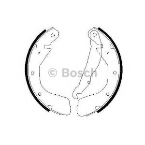 BOSCH 0986487263 Гальмівні колодки барабанні CHEVROLET Corsa Pick-Up 1.7 D/OPEL Astra -00