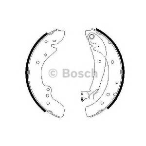 BOSCH 0986487521 Тормозные колодки барабанные CITROEN Jumper 94- FIAT DUCATO 94- ,PEUGEOT