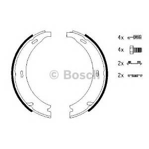 Комплект тормозных колодок, стояночная тормозная с 0986487543 bosch - MERCEDES-BENZ E-CLASS (W210) седан E 220 CDI (210.006)